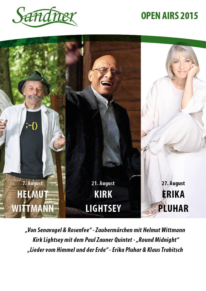 Plakat Gartentheater-Veranstaltungen 2015